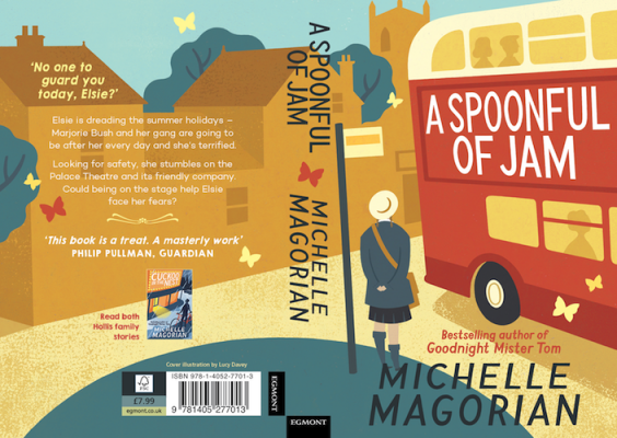 new book jacket for Magorian's Spoonful Of Jam